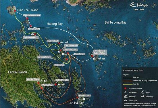 Bai Tu Long Bay map
