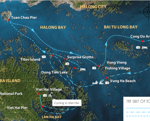 halong bay map